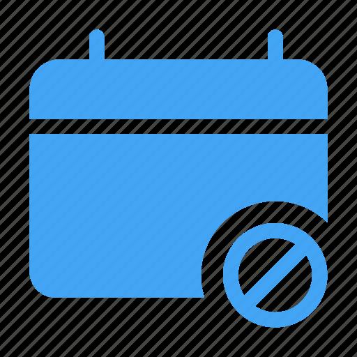 blocked, calander, date, day, event, scheduled icon