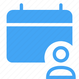 calander, communication, event, planner, scheduled, user icon