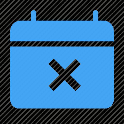 calender, cancel, close, date, day, event icon