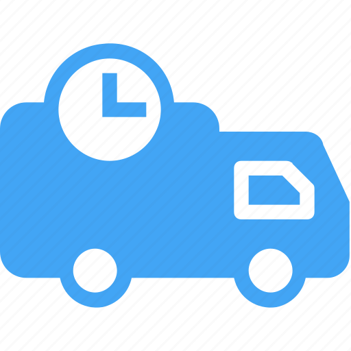 car, delivery, scheduled, shipping, time, timer icon