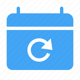 calender, date, day, event, reload, sync icon