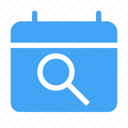 calender, date, day, research, scheduled icon