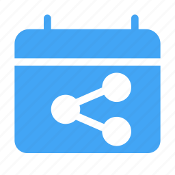 calender, date, day, event, scheduled, share icon