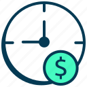 budget, finance, money, plan, productivity, schedule, time, timer icon