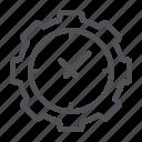 clock, gear, setting icon