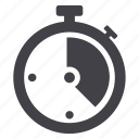stopwatch, time, timepiece icon