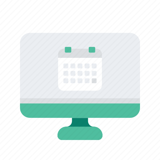 appointment, calendar, computer, date, monitor icon