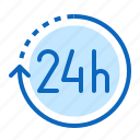 24hr, around, clock, the, time icon