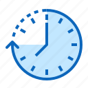 arrow, clock, date, time icon