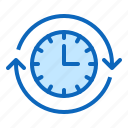 clock, date, management, nonstop, time icon