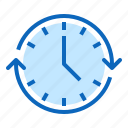 annual, clock, date, management, nonstop, time icon