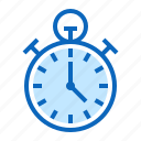 clock, stopwatch, time, timepiece, timer, watch icon