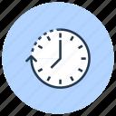 arrow, clock, date, time icon