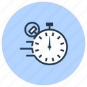 clock, date, fast, stopwatch, time, timer icon