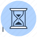 clock, glass, hourglass, sand, sandglass, time icon
