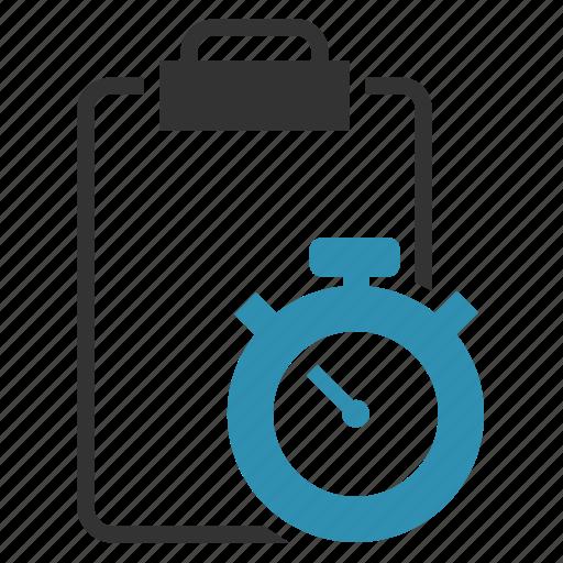 clipbord, estimates, milestones, records, timer icon