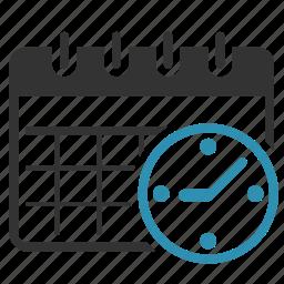calendar, clock, plan, schedule icon