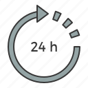 arrow, service, time, working hours icon