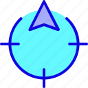 direction, location, marker, navigation, pin, target, time icon