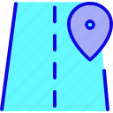 direction, location, map, move, navigation, pin, street icon