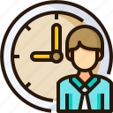 date, employee, timetable, time, schedule icon