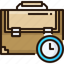 working, briefcase, clock, work, hours, time