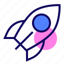 new business, rocket, space, startup icon