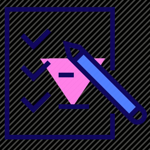 check, list, mark, task icon