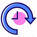 clock, delayed, task, time icon