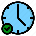alarm, check, date, time icon