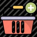 add, basket, buy, ecommerce, online, plus, shopping