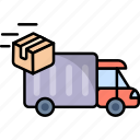 box, delivery, package, transport, transportation, truck, vehicle