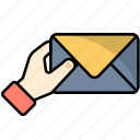 email, envelope, help, letter, mail, message, online icon