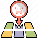 buy, location, map, pin, place, shopping icon