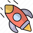 business, online, rocket, shopping, startup icon