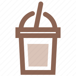 coffee, cold, cup, drink, frappe, ice, iced icon