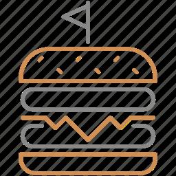 big, burger, fast food, food, hamburger, meal, meat icon
