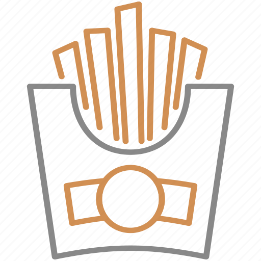 chips, food, french, fries, salt icon