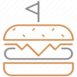 burger, cheeseburger, fast, food, hamburger, meal, meat icon