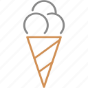 candy, cone, cream, horn, ice, ice cream, waffle icon