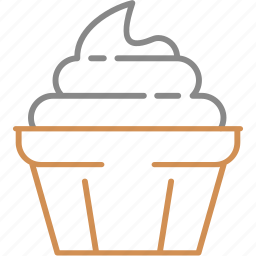 candy, cream, cup, dessert, ice, sweet, waffle icon