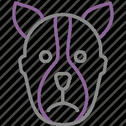 bdsm, dog, fetish, mask, maso, sado icon