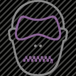 bdsm, fetish, mask, maso, sado icon