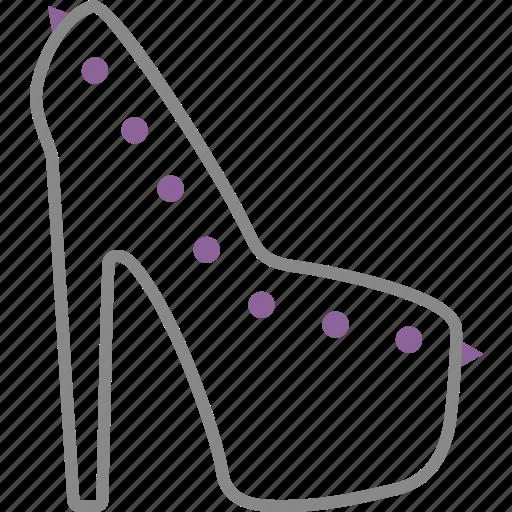 heels, pins, shoe, spike, woman icon