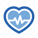attack, health, healthcare, heart, medical, pulse, rate icon