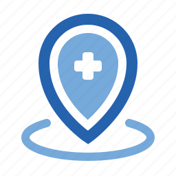 health, hospital, location, map, marker, medical, pin icon