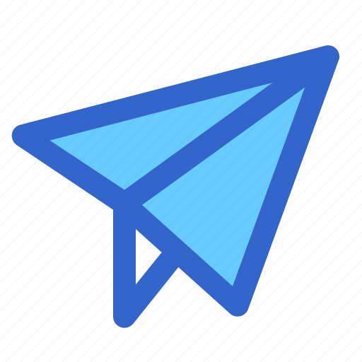 education, message, paper, plane, school, send, student icon