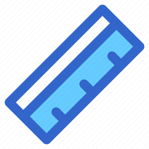 education, gauge, liner, rectangle, ruler, school, student icon
