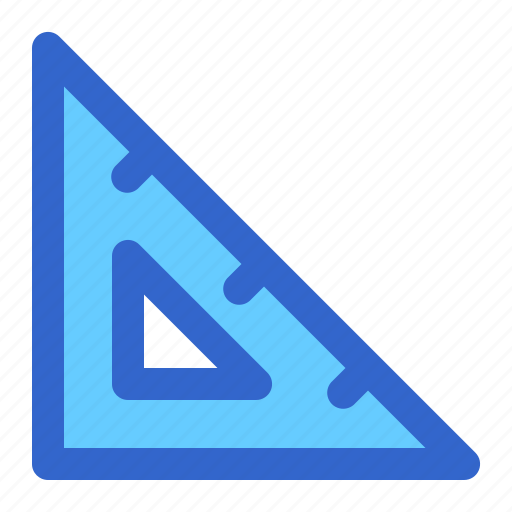 education, gauge, liner, ruler, school, striangle, student icon