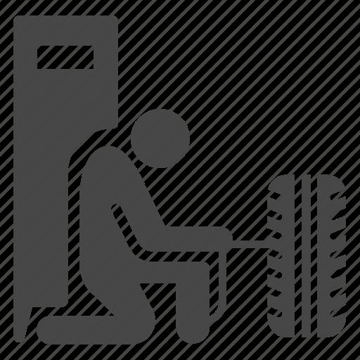 car, garage, inflation, mechanic, tire, wheel icon
